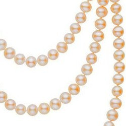 Long Collier de 130 cm perles d'eau douce pêches 6 à 7 mm DOUCEHADAMA