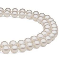Collier double rang de perles d'eau douce 7 à 8 mm DOUCEHADAMA 43/45 cm