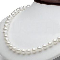 Collier 45 cm de perles d'Eau Douce de 7 à 8 mm Blanches DOUCEHADAMA