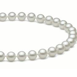 Collier 40 cm de perles d'Eau Douce de 7 à 8 mm Blanches DOUCEHADAMA