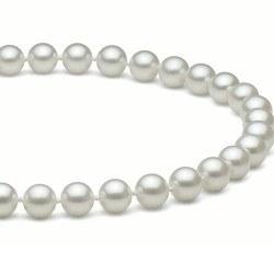 Collier 50 cm de perles d'Eau Douce de 7 à 8 mm Blanches DOUCEHADAMA
