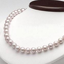 Collier 45 cm de perles d'Eau Douce de 7 à 8 mm Lavande DOUCEHADAMA