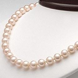 Collier 45 cm de perles d'Eau Douce de 7 à 8 mm Pêche DOUCEHADAMA