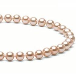 Collier 40 cm de perles d'Eau Douce de 7 à 8 mm Pêche DOUCEHADAMA