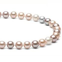 Collier 40 cm de perles d'Eau Douce de 7 à 8 mm Multicolore DOUCEHADAMA