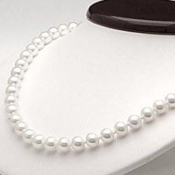 Collier 45 cm de perles d'Eau Douce de 8 à 9 mm Blanches DOUCEHADAMA