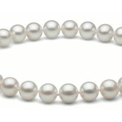 Collier 40 cm de perles d'Eau Douce de 8 à 9 mm Blanches DOUCEHADAMA
