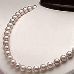 Collier 45 cm de perles d'eau douce lavandes de 8 à 9 mm DOUCEHADAMA