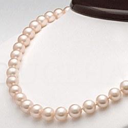 Collier 45 cm de perles d'eau douce Pêches de 8 à 9 mm qualité DOUCEHADAMA