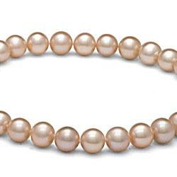 Collier 40 cm de perles d'eau douce de 8 à 9 mm Pêches DOUCEHADAMA