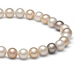 Collier 40 cm de perles d'Eau Douce de 8 à 9 mm Multicolores DOUCEHADAMA