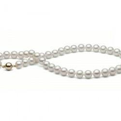 Collier 40 cm de perles d'Eau Douce de 9 à 9,5 mm Blanches DOUCEHADAMA