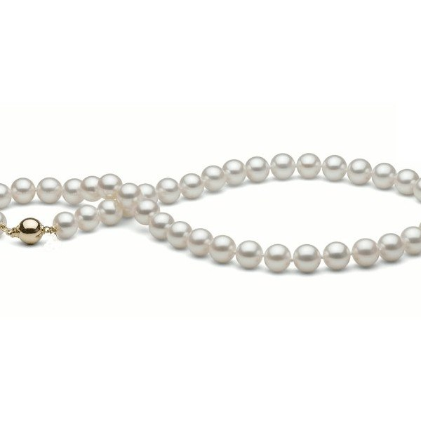 Collier 55 cm de perles d'Eau Douce de 9 à 9,5 mm Blanches DOUCEHADAMA