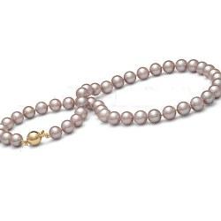 Collier 40 cm de perles d'Eau Douce de 9 à 9,5 mm Lavandes DOUCEHADAMA