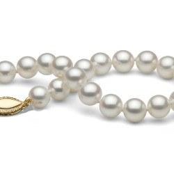 Bracelet 21 cm de perles d'eau douce blanches 6 à 7 mm DOUCEHADAMA