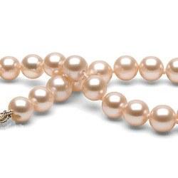 Bracelet de perles d'eau douce Pêches 6 à 7 mm DOUCEHADAMA