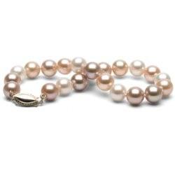 Bracelet de perles d'eau douce Multicolores 7 à 8 mm DOUCEHADAMA