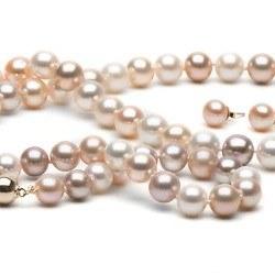 Parure perles d'Eau Douce multicolores 8 à 9 mm 45/18 mm DOUCEHADAMA