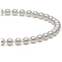 Collier 45 cm de perles Akoya blanches de 6,0 à 6,5 mm