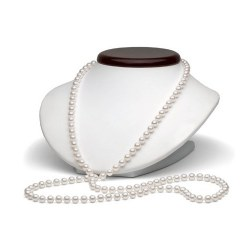 Collier 130 cm de perles Akoya 6,0 à 6,5 mm blanches