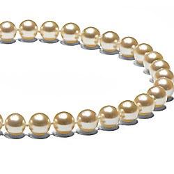 Collier 45 cm de perles Akoya Champagne de 7,0 à 7,5 mm AAA