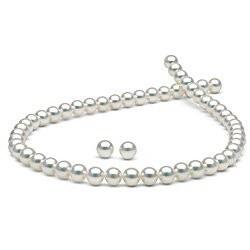 Parure de perles de culture d'Akoya HANADAMA 7,5 à 8 mm