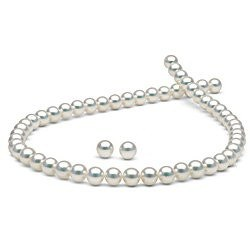 Parure de perles de culture d'Akoya HANADAMA 8,5 à 9 mm
