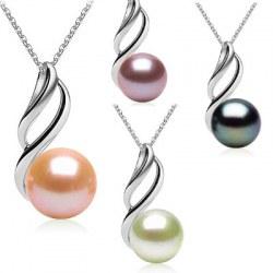 Pendentif Argent 925 Perle d'Eau Douce de 9 à 10 mm AAA