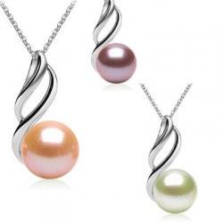 Pendentif Argent 925 Perle d'Eau Douce de 9 à 10 mm DOUCEHADAMA