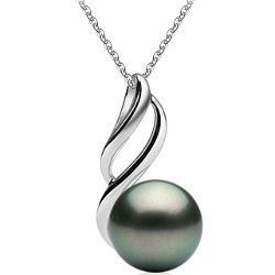 Pendentif Argent 925 Perle de Tahiti de 9 à 10 mm