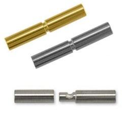 Fermoir Baionnette pour lien de cuir de 2 mm Or 18 carats