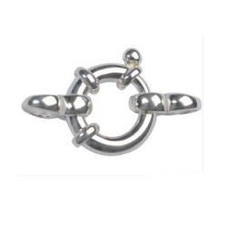 Fermoir Bouée Argent 925 Ø:14 mm pour collier ou bracelet de perles