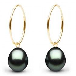 Boucles d'oreilles en or Or 18k perles de Tahiti Goutte