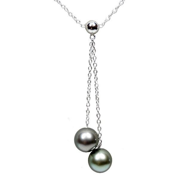 Collier de perles de culture de Tahiti AAA et chaîne en Argent 925