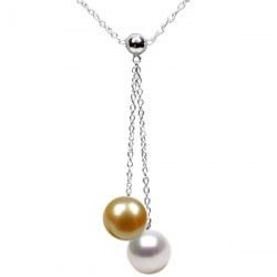 Collier de perles Australie et Philippines AAA et chaîne en Argent 925