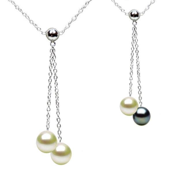 Collier de perles de culture d'eau douce qualité AAA et chaîne en Argent 925