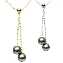 Collier de perles de culture de Tahiti AAA et chaîne en or