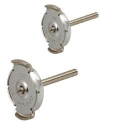 Paire de fermoirs Système GUARDIAN Argent 925 - 3 mm pour boucles d'oreilles de perles