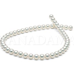 Collier de perles de culture d'Akoya naturellement blanche HANADAMA 8,0 à 8,5mm