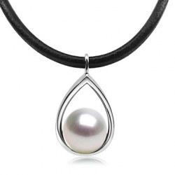 Pendentif Argent 925 et Perle blanche d'Australie AAA