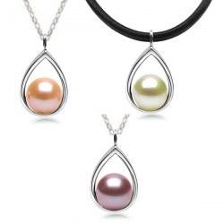Pendentif en Argent 925 perle d'Eau Douce DOUCEHADAMA