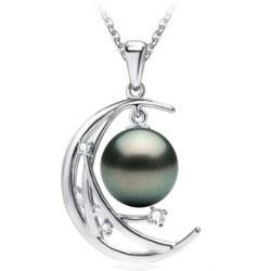 Pendentif Argent 925 et perle de culture de Tahiti 9-10 mm AAA