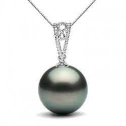 Pendentif en Or 9k avec Perle noire de Tahiti à partir de 9-10 mm
