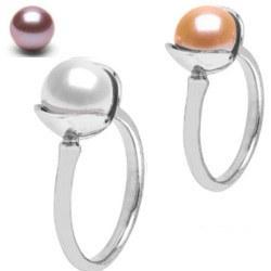 Bague en Argent 925 avec perle de 8-9 mm Doucehadama