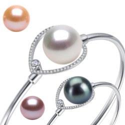 Bracelet en Argent 925 et perle d'Eau Douce 10-11 mm AAA