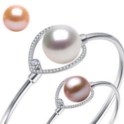 Bracelet en Argent 925 et perled'Eau Douce 10-11 mm DOUCEHADAMA