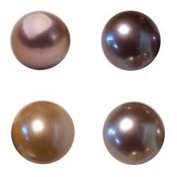 Perle Edison d'eau douce 11-12 mm semi-percée pour pendentif