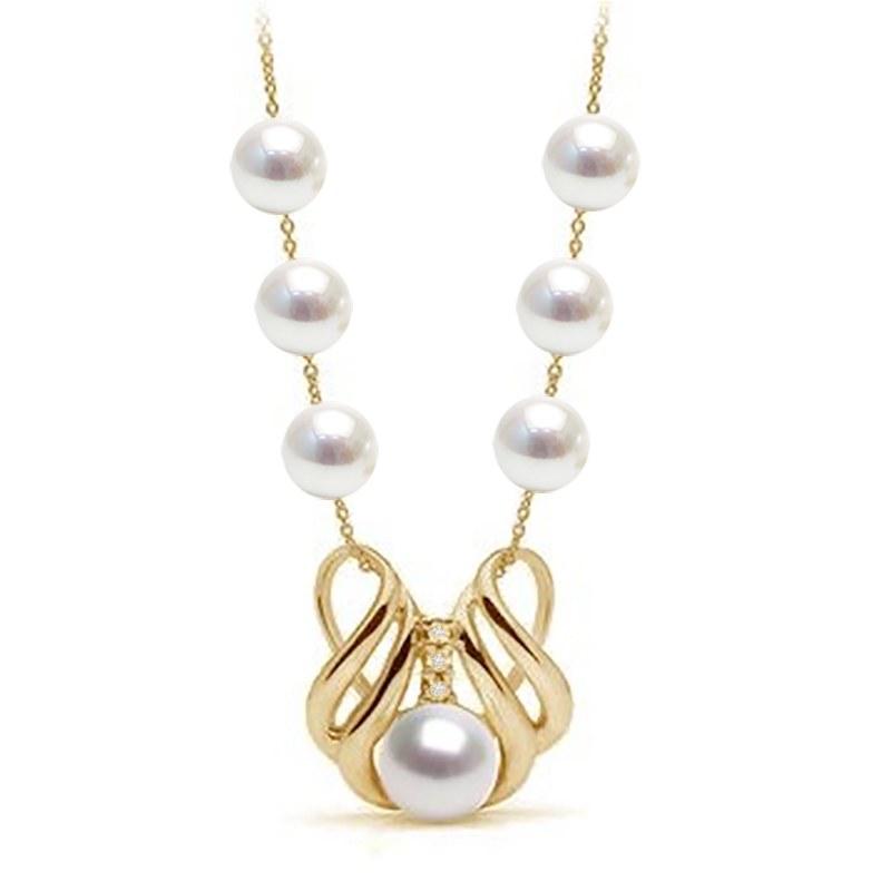 Collier or avec perles Akoya