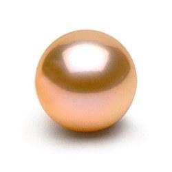 Perle de culture d'eau douce de qualité Doucehadama, rose pêche de 9-10 mm