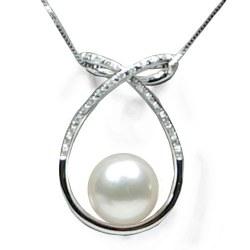Pendentif Or 18 carats et Diamants et Perle de culture d'Australie